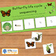 Butterfly life cycle sequencing activity worksheet