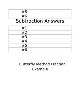 Butterfly model Adding and Subtracting Fraction