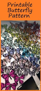 Butterfly monarch paper project FREE download