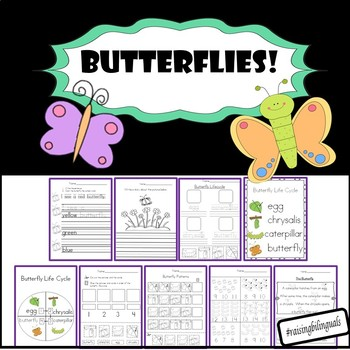 Butterfly science math and literacy! (Spanish available in