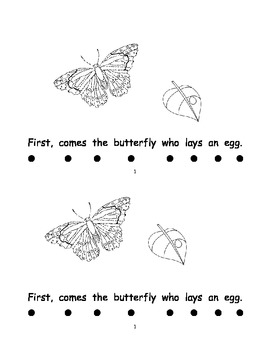 Butterfly song book to go with Dr. Jean's butterfly song