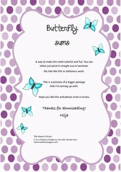 Butterfly sums - freebie