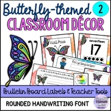 Butterfly-themed Classroom Decor and Set Up (Editable) 2 N