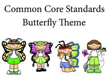 ButterflyKids Kindergarten English Common core standards posters