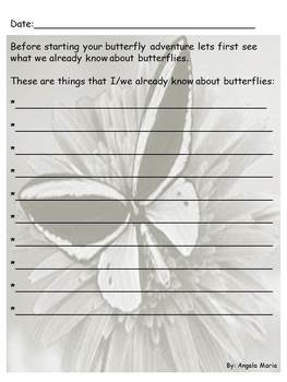 Butterfly,Magic School Bus Comprehension Common Core, Observation Journal
