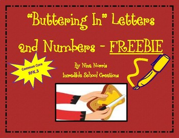 Buttering In Letters and Numbers freebie