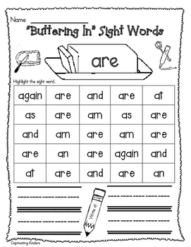 Buttering Sight Words