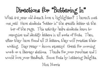 Buttering in Letters