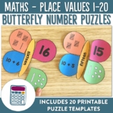 Butterfly Place Value Numbers 1-20 Puzzles