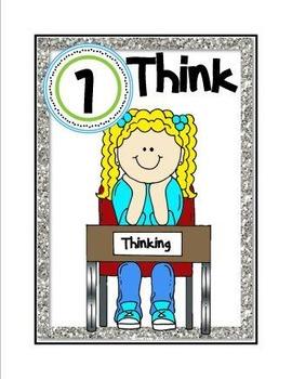 Think, Draw, Write Set  (png. files)