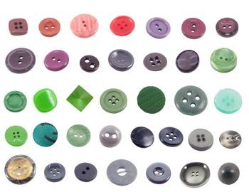 Button Bundle Real Photo Clipart