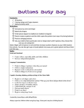 Button Busy Bag