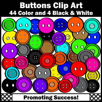 Rainbow Colors Button Clip Art Commercial Use Math Manipulative Images SPS
