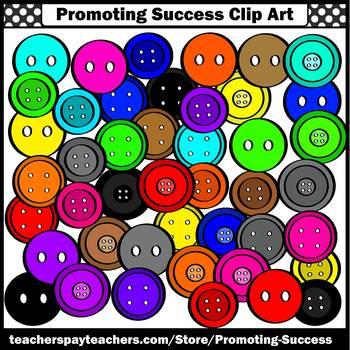 Colorful Buttons Clip Art, Math Manipulatives Clipart SPS