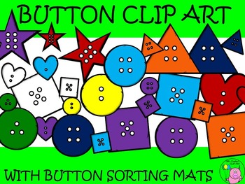 Button Clip Art with Button Sorting Mats // over 500 pages!!
