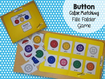 Button Color Matching File Folder Game