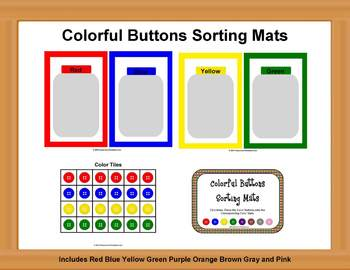 Button Color Sorting Activity