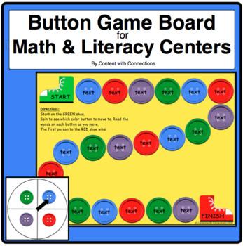 Button Game Board-Editable! (Pete the Cat theme)