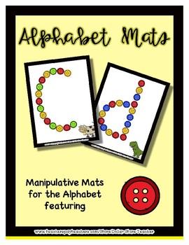 Button  Manipulative Mats Upper & Lower Case Letters  Fine Motor Work