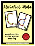 Button  Manipulative Mats Upper & Lower Case Letters  Fine