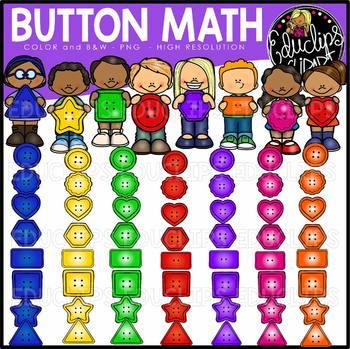 Button Math Clip Art Bundle {Educlips Clipart}