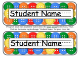 Button Editable Name Tags for Desks, Signs, Labels