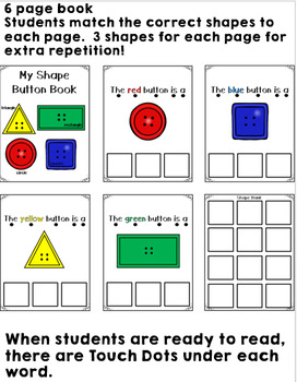 Button Shapes Adapted Book