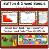 Complete Button & Shoes Bundle: School Tour, Desk Tags, Subtraction & More