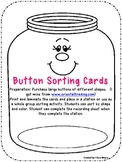 Button Sorting Math Center or Station