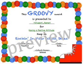 Button End-of-the-Year Award Certificates: Editable! (Pete the Cat theme!)