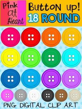 Button Up - Round Button Clip Art