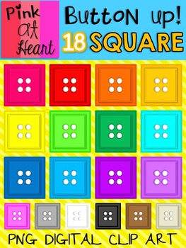Button Up - Square Buttons Clip Art
