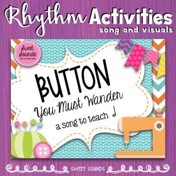 Button You Must Wander Rhythm Activities - Half Note