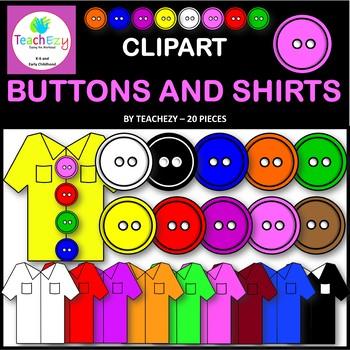 Button and Shirt Clip Art Pack