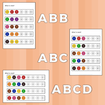 button patterns worksheets aided language display autism special ed. Black Bedroom Furniture Sets. Home Design Ideas