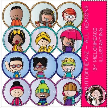 Buttonheadz - All Seasons clip art - by Melonheadz