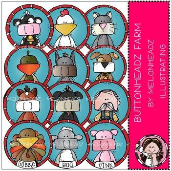 Melonheadz: Buttonheadz Farm clip art - COMBO PACK