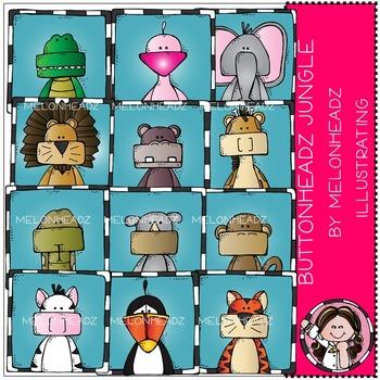 Melonheadz: Buttonheadz Jungle clip art - COMBO PACK