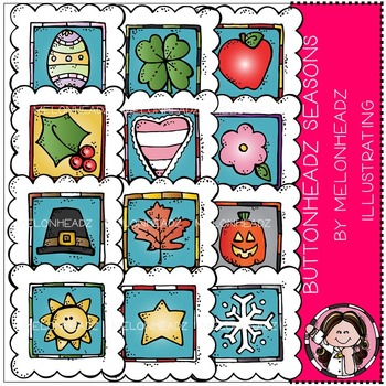 Melonheadz: Buttonheadz Seasons clip art - COMBO PACK