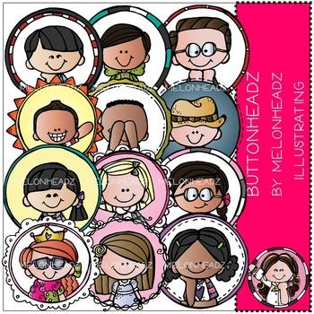 Melonheadz: Buttonheadz clip art - COMBO PACK