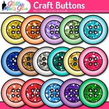 Craft Button Clip Art {Rainbow Glitter Manipulatives for M