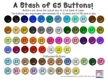 Button Clip Art (66 PNG Images of Buttons) Big Set of Buttons Clip Art Set