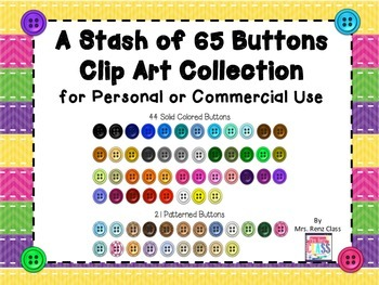 Button Clip Art (66 PNG Images of Buttons) Commercial or P
