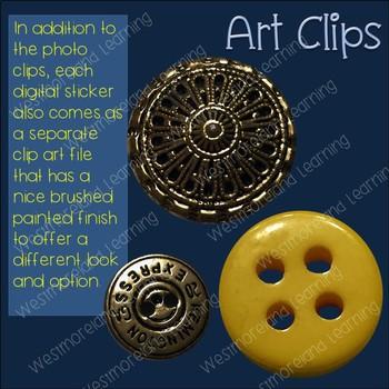 Buttons Clip Art Photo & Artistic Digital Stickers Just Buttons