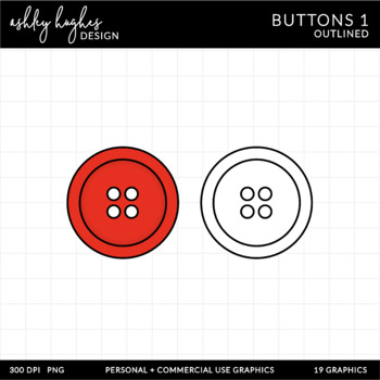 Buttons Clipart {A Hughes Design}