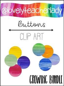 Buttons - Watercolor Clip Art (Growing Bundle)