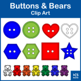 Buttons and Bears Clip Art