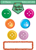 Buttons and Labels Clip Art. School clipart.