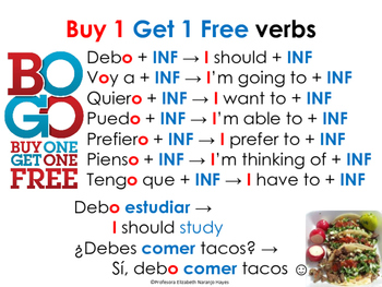 Buy 1 get 1 free / BOGO verbs [using 2 verbs together]