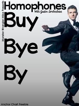 Buy, Bye, By Homophone Anchor Chart Freebie